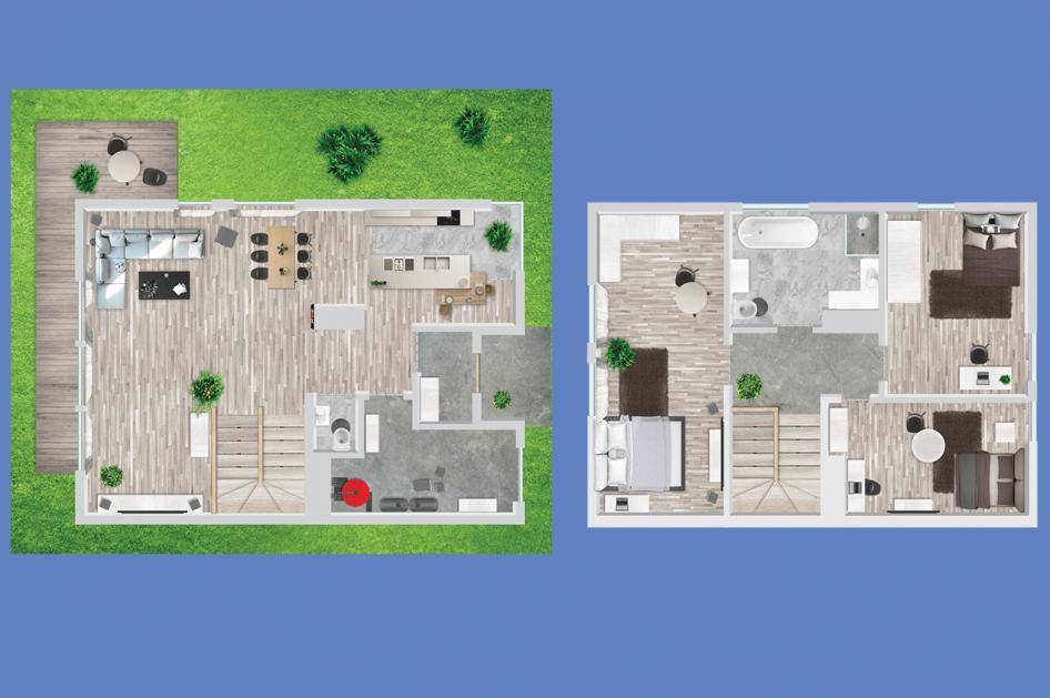Zdjęcie projektu domu bliźniaczego